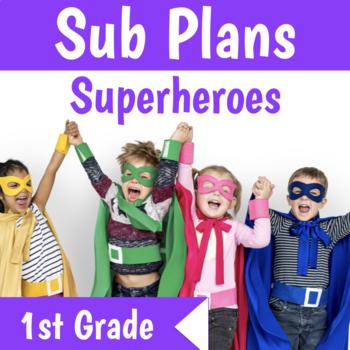 1st Grade No Prep Sub Plans
