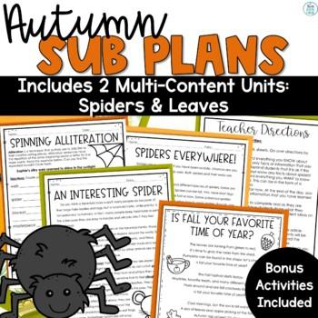 Sub Plans Autumn Themed