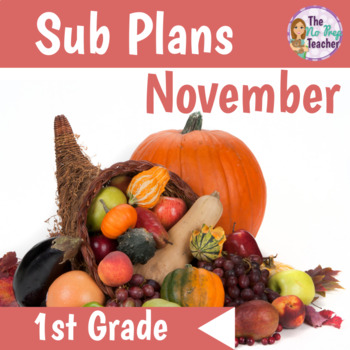 1st Grade Sub Plans Full Day November