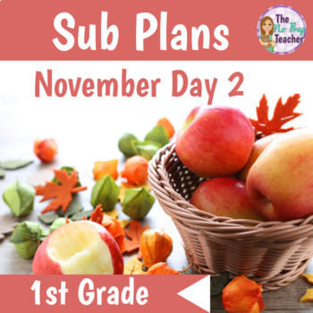 1st Grade Sub Plans November Day 2