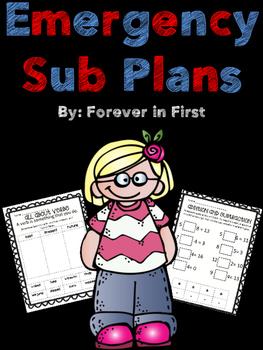 Emergency Sub Plans for 5 Days!
