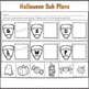 Kindergarten Sub Plans Halloween