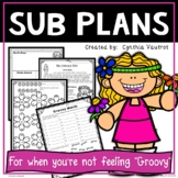 Sub Plans for 3rd Grade! Sixties Theme!