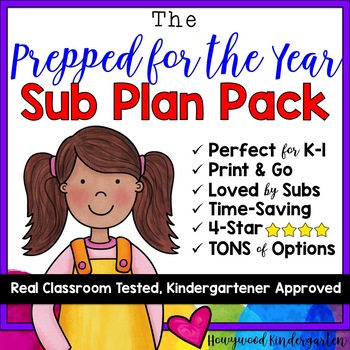 "HUGE collection of Sub Plans! The ""Prepared for the YEAR Pack!"""