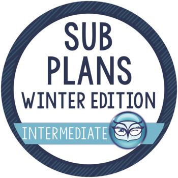 Emergency Sub Plans - Winter Edition for Intermediate Grades