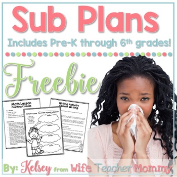 Free Sub Plans for Substitute Mini Lessons. Elementary Grades.