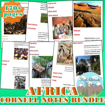 Africa Cornell Notes *Bundle* Sub-Saharan Africa Culture R