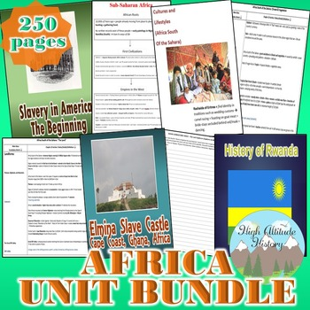 Africa Unit (Geography) Sub-Saharan Africa *Unit Bundle*