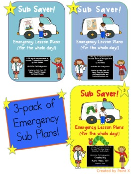 Sub Saver 3 Pack - Emergency Sub Plans!