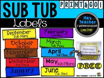 Sub Tub Monthly Labels {Free}
