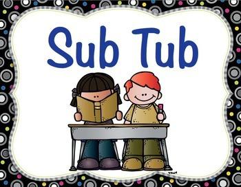 Sub Tub Lesson Plans