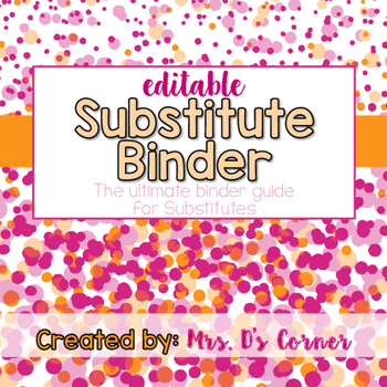 Sub Tub - Ribbon and Dots - The Ultimate Substitute Teache
