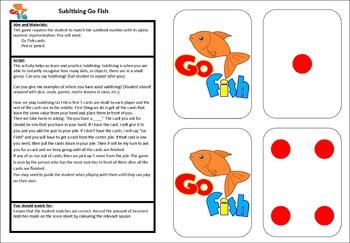 Subitising Go Fish