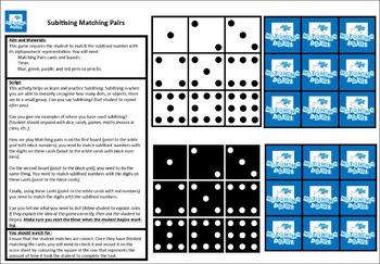 Subitising Matching Pairs