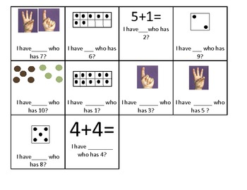 Subitize to 10: fingers, die, 10 frames, dots & equations!