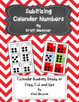 Subitizing Calendar Numbers