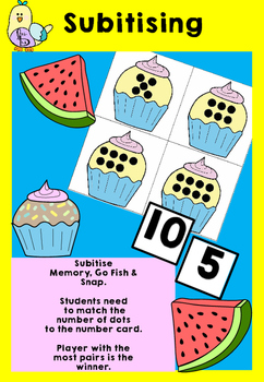 Subitising Card Game - Memory, Snap & Go Fish