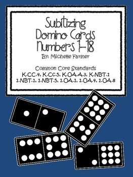 Subitizing Domino Cards