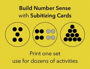 Subitizing Dot Cards | Early Math Skills for Pre-K and Kin