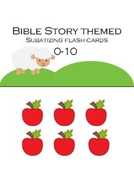 Subitizing Flashcards 0-10 (Bible Story themed)