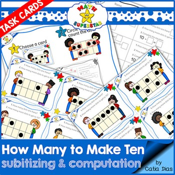 Subitizing - How many to make ten - Task Cards