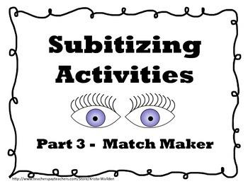 Subitizing Matching Game
