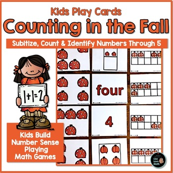 Subitizing: Spatial Visualization Cards 1-5, Fall Pumpkins