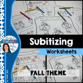 Subitizing Worksheets - Fall