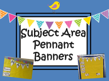Subject Area Pennant Banners