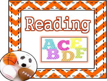 Sports Theme - Subject Area Posters - Reading, Writing, Ma