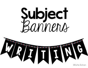 Subject Banners