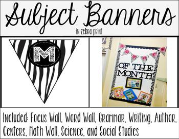 Subject Banners - Zebra Print