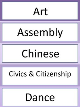 Subject Labels - Purple