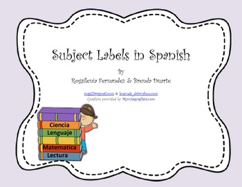 Subject Labels in Spanish