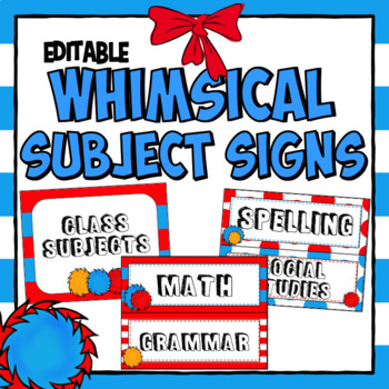 Subject Posters Whimsical Theme~ Editable