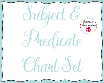 Subject & Predicate Chart Set