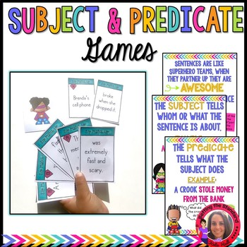 Subject & Predicate Games + Posters