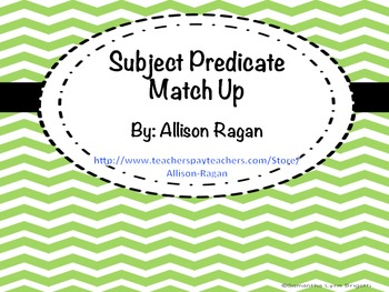 Subject Predicate Match Up