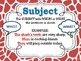 Subject & Predicate POSTERS for the Classroom: Colorful Gi