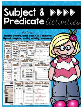Grammar - Subject & Predicate Sentences Activities - Commo