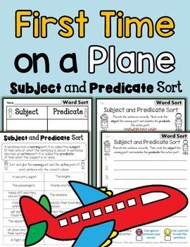 Subject Predicate Sort Airplane Theme