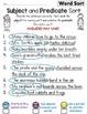 Subject Predicate Sort Set 10