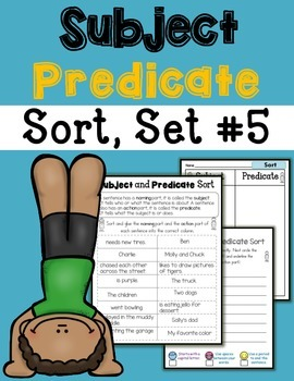 Subject Predicate Sort Set 5