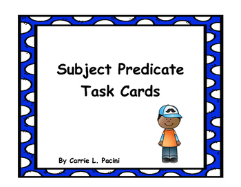 Subject Predicate Task Cards