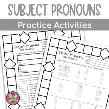 Subject Pronouns Packet