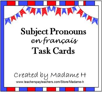 Subject Pronouns Task Cards
