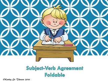 Subject-Verb Agreement Foldable