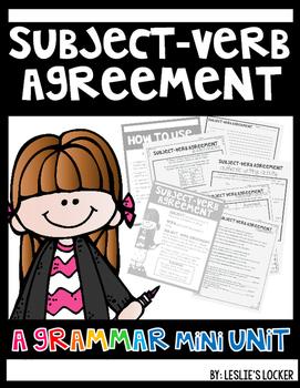 Subject Verb Agreement Mini-Unit