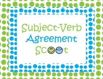 Subject Verb Agreement Scoot