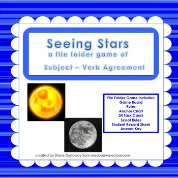 Subject/Verb Agreement:  Seeing Stars